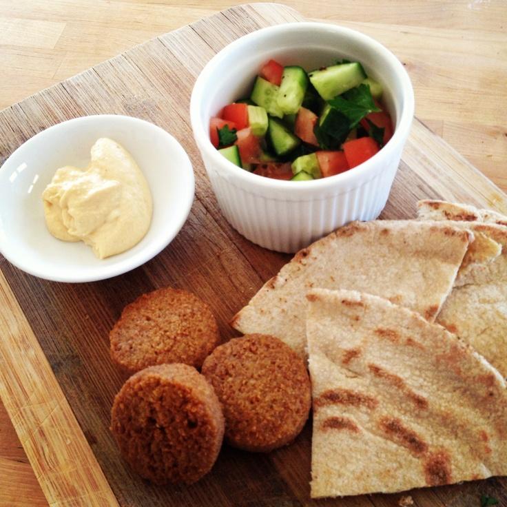Felafel, Hummus & Cucumber Salad #delicious  #12WBT