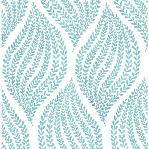 A-Street Arboretum Aqua Fern Wallpaper Sample 2656-004059SAM at The Home Depot - Mobile