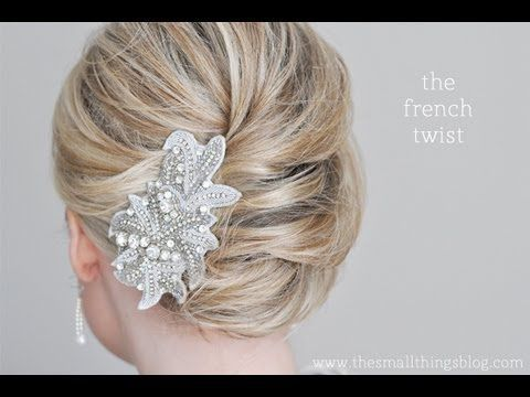 Pretty French Twist Tutorial from @Kate SmallThingsBlog :)
