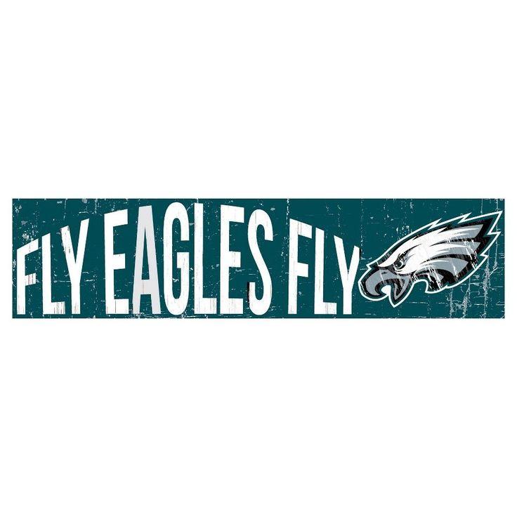 NFL Philadelphia Eagles 24 Slogan Wood Sign