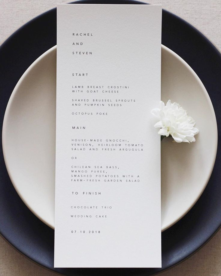 State of the art # typography and # wedding menu. Perfect for any place. #hochmo