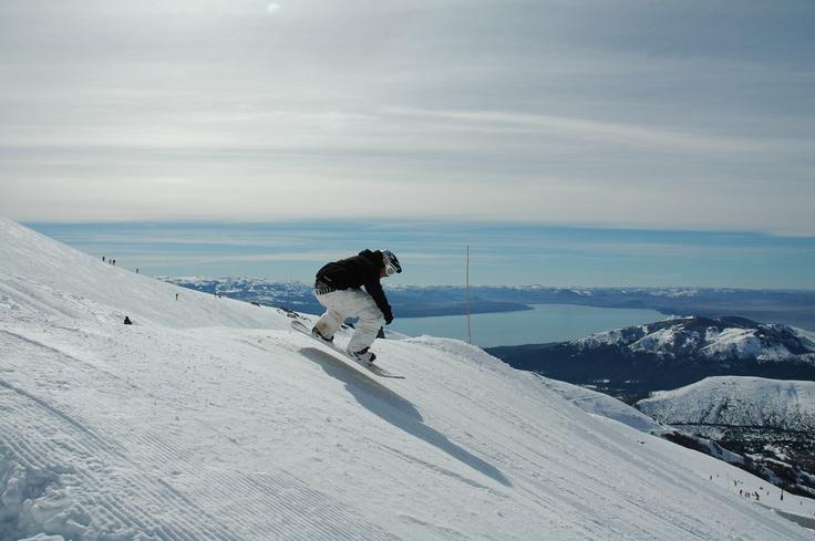 Esquiando en el Cerro Catedral, Bariloche, Río Negro, Argentina