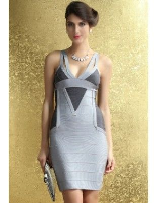 Black and Gray Bandage Party Dress