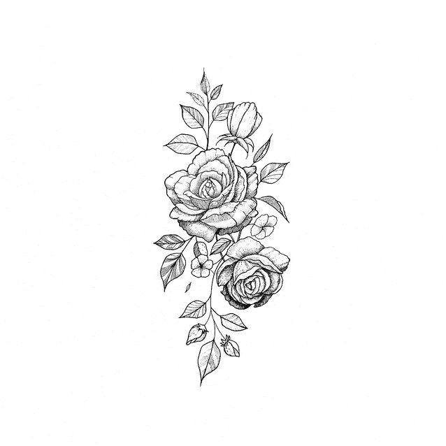Rose Floral Tattoo Design Moderntattoodesigns Click To See More Rose Flower Tattoos Flower Tattoo Black Rose Tattoos