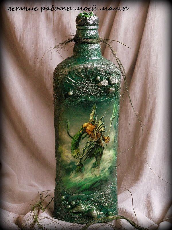 Декор, декупаж бутылок