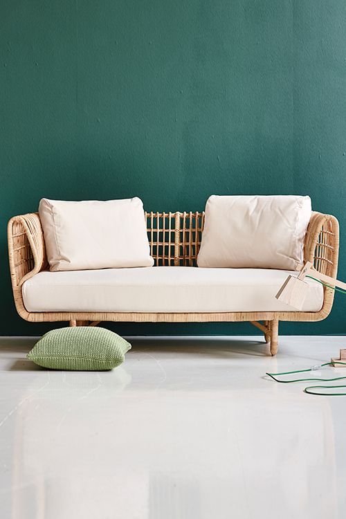The Nest lounge sofa is a danish design manufactured in Indonesia by rattan weavers with a long tradition of this craftsmanship. Made from sustainable natural rattan. Indoor use. Suitable for outdoor use only under an overhang. Quickship Version here.