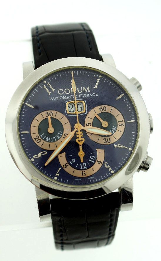 CORUM LIMITED EDITION CHRONOMETER SWISS WATCH FLYBACK AUTOMATIC LEATHER STRAP #Corum #Casual #limitededition #chronometer #swiss #flyback #automatic #leather #strap