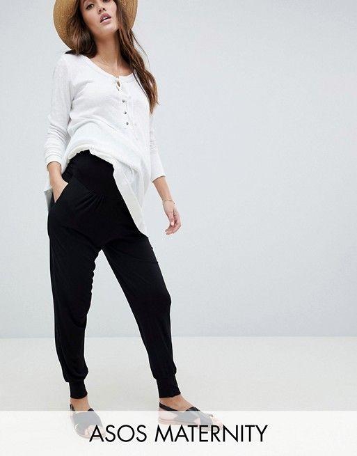 97fe14309 DESIGN Maternity ultimate jersey harem pants with bump band | Preggers | Maternity  pants, Pants, Fashion