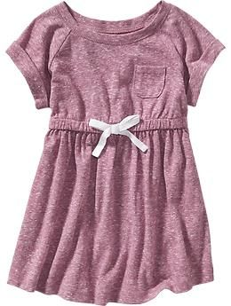 Pocket Tee Dresses for Baby