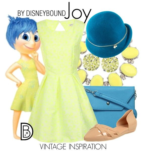 You can't help but feel Joy in this adorable outfit. | fashion | outfits | disneyland outfits | disney world outfits | disney fashion outfits | disneybound | disneybound outfits | disney outfits | disney outfit ideas |