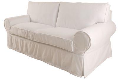 Sofá com capa.