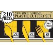 Yellow Sunshine Cutlery Set $10/210pc