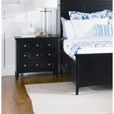 "One day I will like to get the nightstand to finish off the set.  Magnussen Furniture""South Hampton Three Drawer Nightstand in Black"