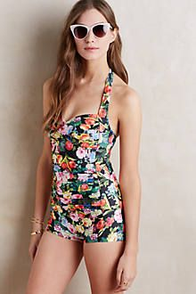 Seafolly Summer Garden Boyleg Swimsuit.