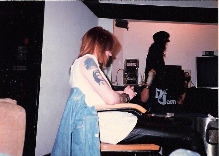 """RARE!!! Axl Rose & Guns N' Roses in the studio mixing """"Appetite for Destruction"""" #gunsnroses #axl rose"""