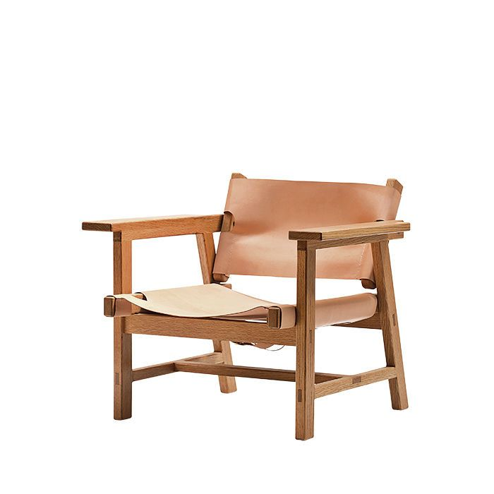 A multidisciplinary design studio based in New York, Friends x Family recently launched its first furniture collection. The Mads armchair ($3,200), made from white oak and leather, updates the classic Børge Mogensen Spanish chair.