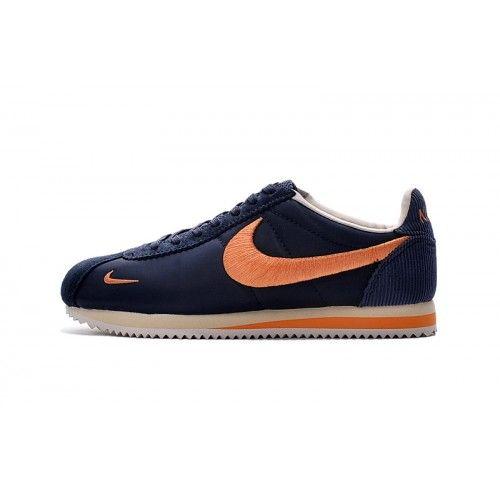 Bast Nike Cortez Herr Dam Dark Bla Orange Loparskor