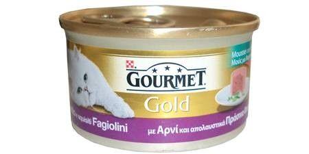 GOURMET GOLD MOUSSE AGNELLO E FAGIOLINI 85 GR  Gourmet gold è un ampia selezione di ricette saporite create per deliziare il palato del tuo gatto proponendo ogni giorno sapori differenti.  0,65 €  https://www.pets-house.it/per-gatti-adulti/3489-gourmet-gold-mousse-agnello-e-fagiolini-7613033046902.html