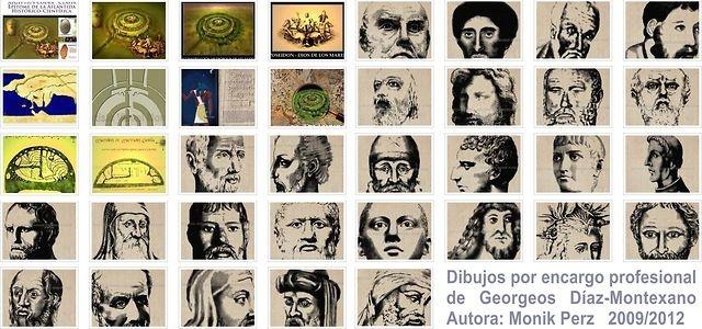 Dibujos por encargo de Georgeos Díaz Montexano  Enlace a la web del autor: http://www.georgeosdiazmontexano.com    Ilustradora: Monik Perz  http://www.monikperz.com.ar  http://www.pilaresdelarte.com.ar