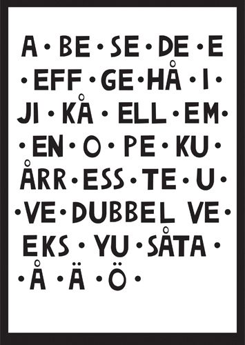 Learning Swedish this is how you pronounce the alphabet.  All the vowels are long, so A is pronounced Aaah and B is pronounced Beh, C is Seh and so on.