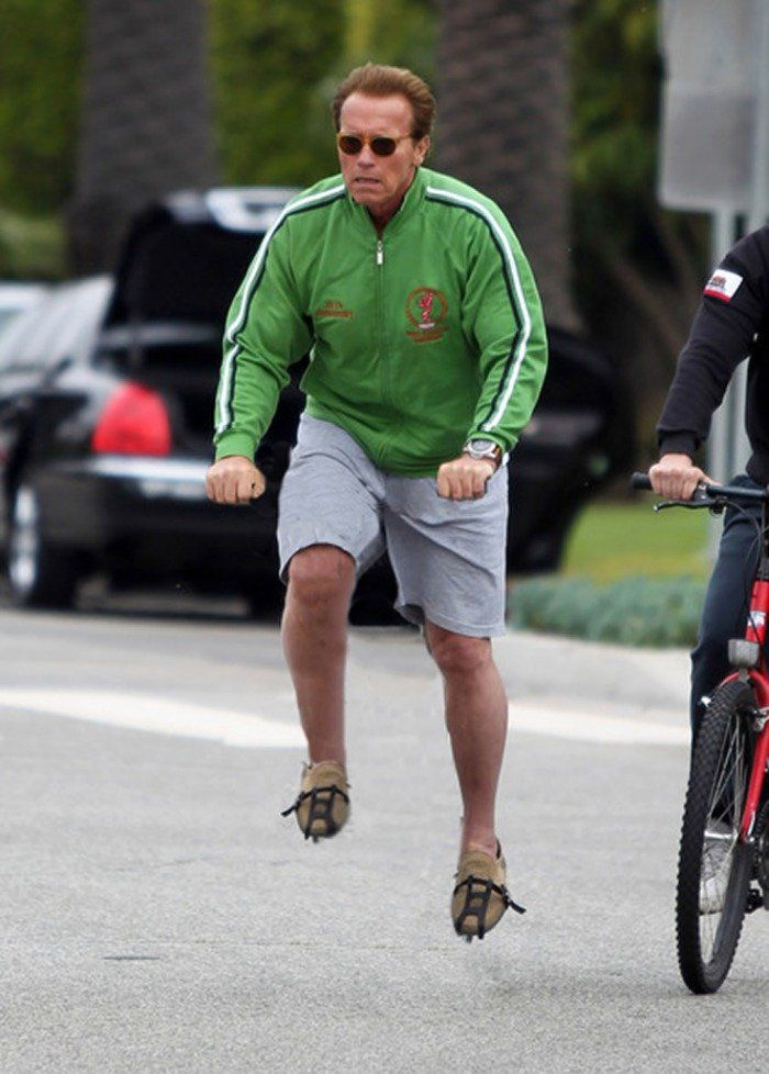 Celebs riding them invisible bikes