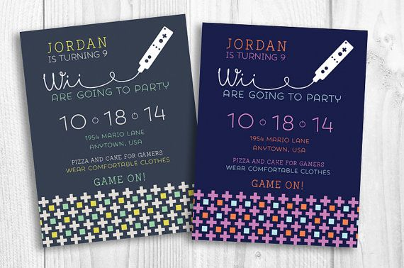 Perfect invitation for your gamer!  Video game birthday invitation, wii, dance party, gaming, just dance
