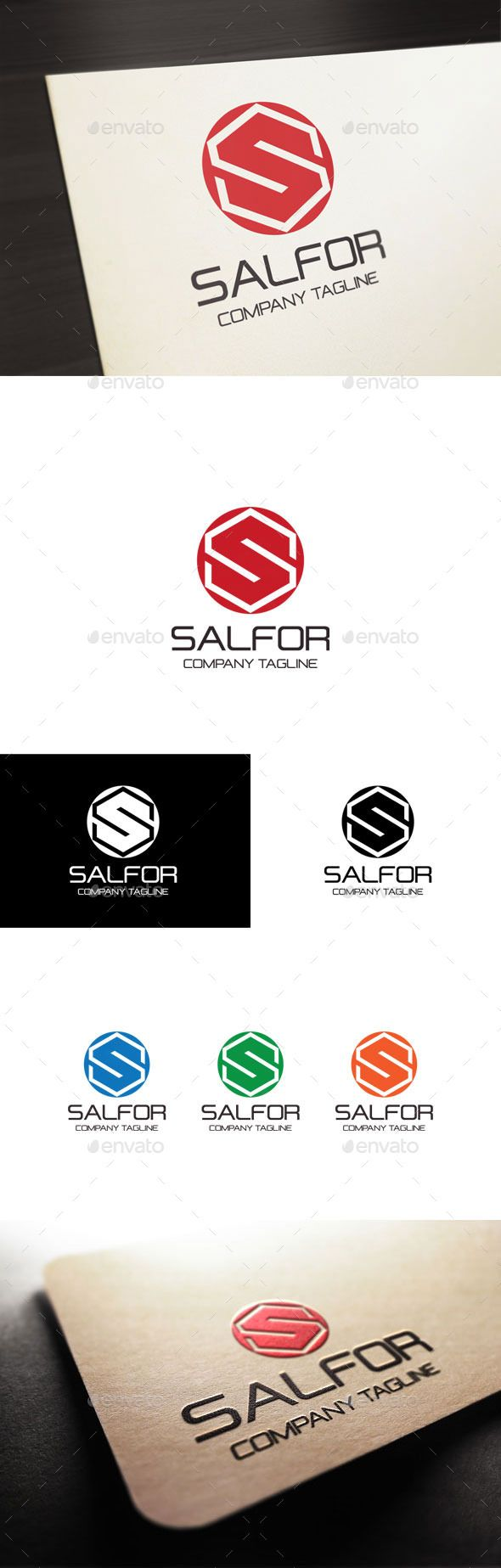 formats of business letters%0A Salfor  Letter S Logo