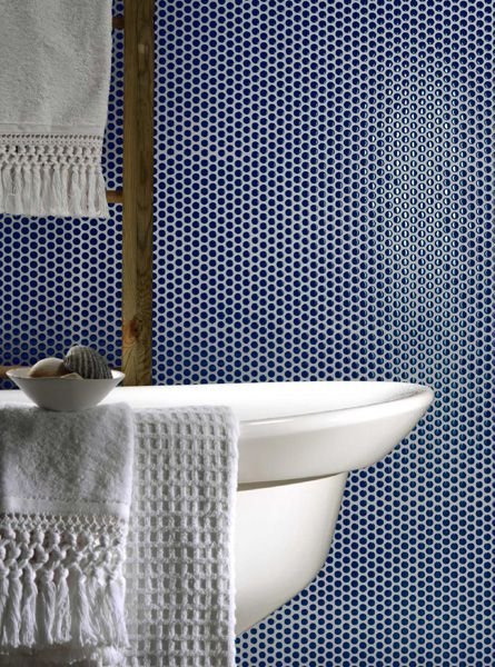 Paillettes collection, blue - Lea Ceramiche
