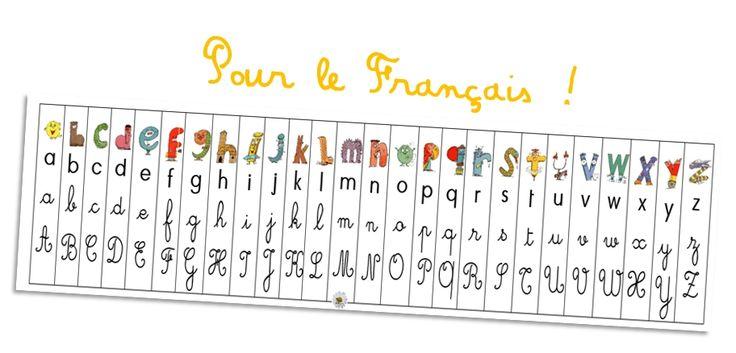 Aide pour le Français en début d'année de CP (sous-main ou marque-page pour le fichier)
