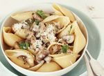 Conchiglie Pasta with Mushrooms and Parmesan Cream Sauce