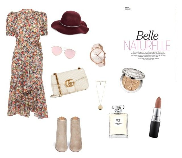 belle naturale by hilalozkan on Polyvore featuring moda, Aquazzura, Gucci, Givenchy, Ted Baker, LMNT, San Diego Hat Co., Christian Dior, MAC Cosmetics and Chanel