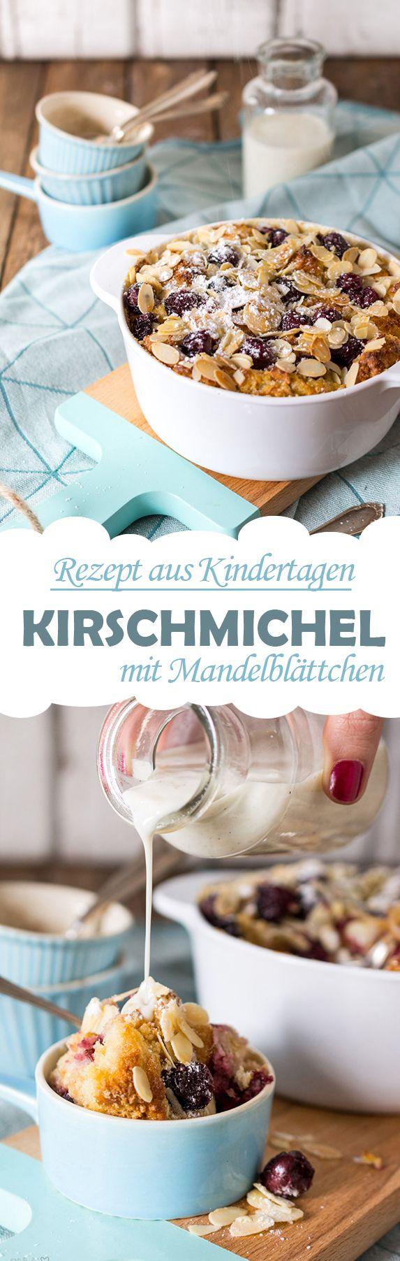 Kirschmichel mit Mandelblättchen /// Sweet bread casserole with cherries