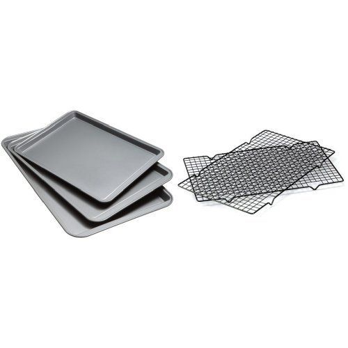 Good Cook Nonstick Cookie Sheets And Cooling Racks 5 Piece