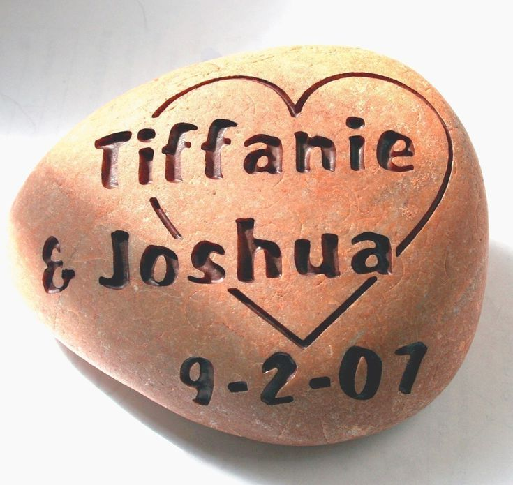 Custom wedding gift  Love rocks  engraved stone for by sjengraving, $40.00