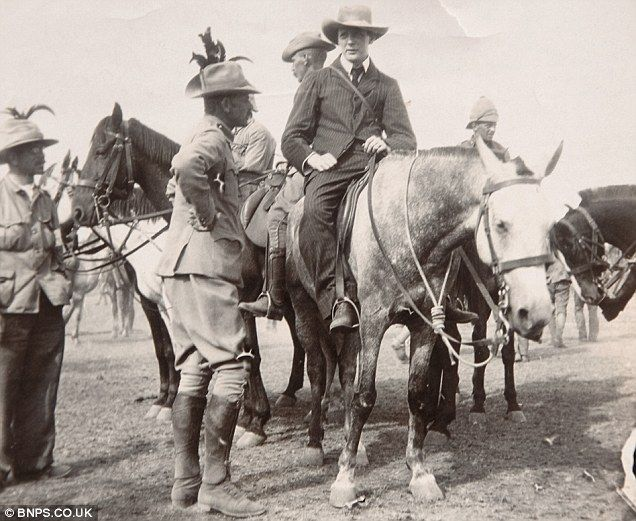 Winston Churchill on horseback soon after his famous escape from captivity during the Anglo-Boer War. http://bit.ly/1kpx7FK