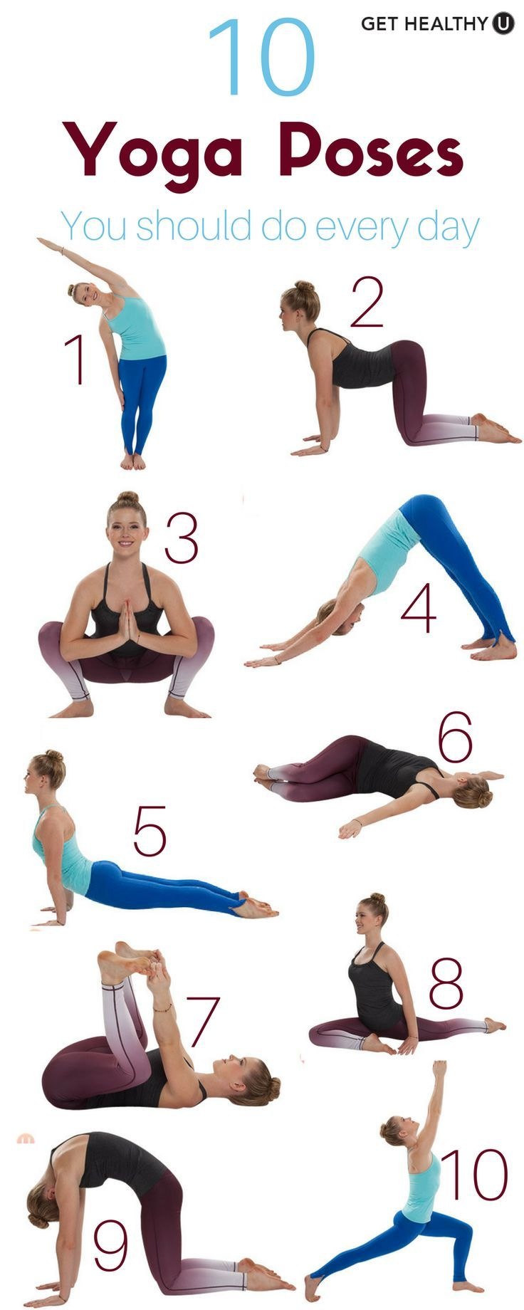 Check out our simple yoga workout! We've given you 10 yoga poses you should do every day. You can do these almost anywhere, at anytime, and you WILL feel amazing!  Find more relevant stuff: victoriajohnson.wordpress.com
