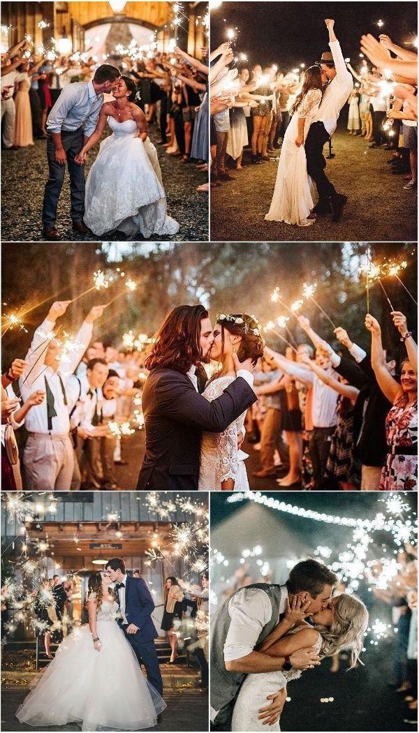 50 Sparkler Wedding Exit Send Off Ideas Night wedding