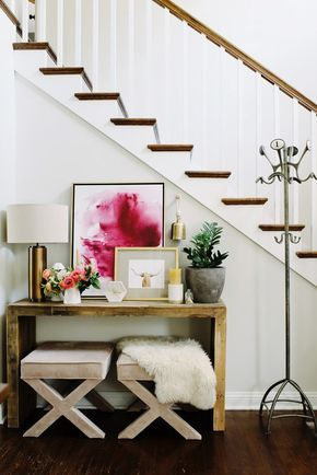 Entryway styling ideas. 1950s bungalow with a Scandinavian twist.