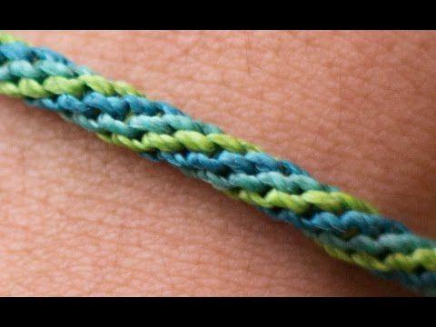 pulsera macramé nudo espiral triple - YouTube