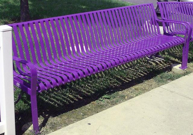 Purple Bench Purple Work Play Pinterest Photos