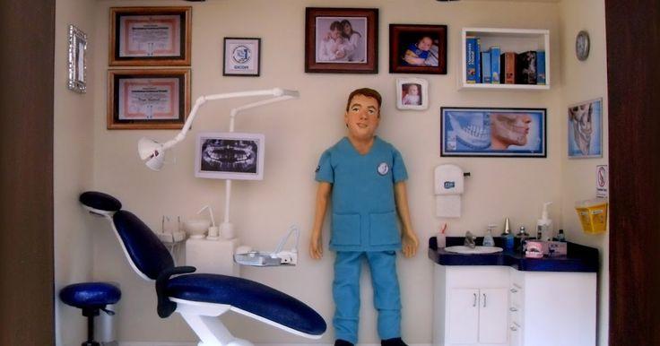 Gran cuadro CONSULTA DENTAL con MINIATURAS . Hecho por encargo desde Argentina, para un gran médico Cirujano Maxilofacial Medidas aproxim...