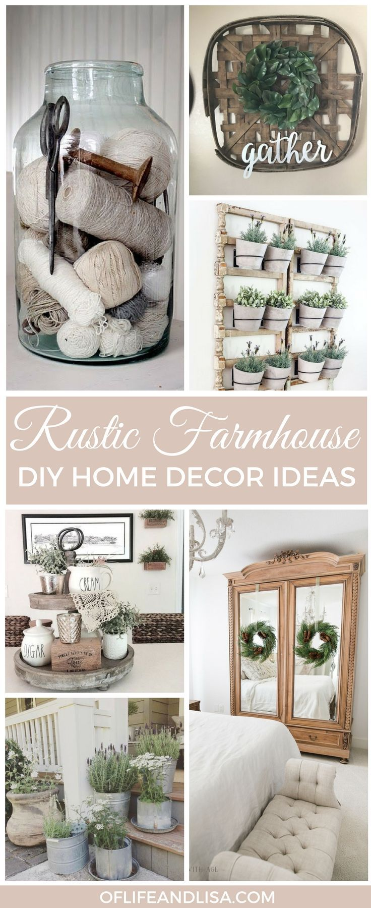 These rustic farmhouse decor ideas are absolutely stunning! I can not wait to try the spool in the jar piece. I believe that would look really nice on my mantel. What's your favorite look? REPIN TO YOUR FOLLOWERS #home #decor #homemade #rustic #rusticfarmhouse #farmhousestyle #farmhouse #farmhousedecor #farmhousekitchen #farmhousebedroom