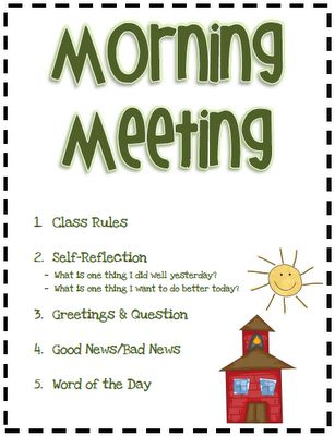 3rd Grade Thoughts: Starting Our Day With Morning Meeting. . .FABULOUS, step-by-step, for starting each and every school day!!