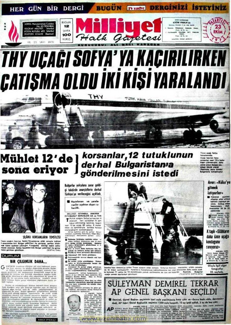 Milliyet gazetesi 23 ekim 1972