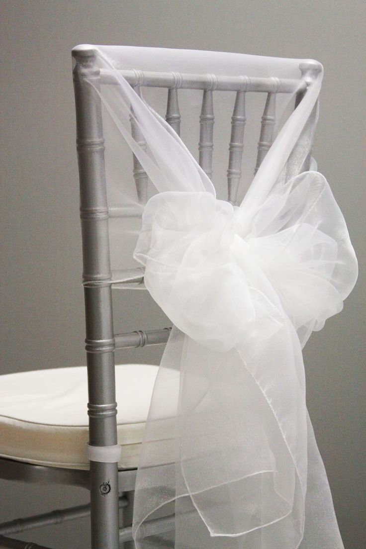 Snow Organza Chair Caps Hoods White Many Colors