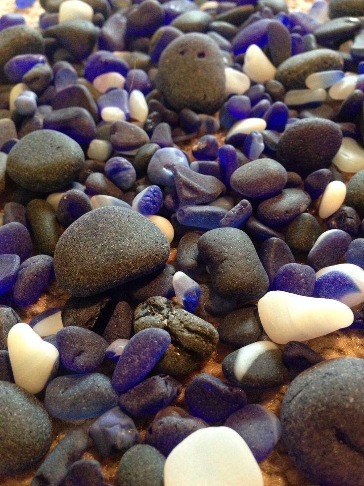 The blues. Sea glass Wow I rarely find Lake tumbled glass