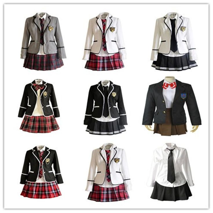 Clever School Girl: Japan School Uniform Girls Dress Cosplay Costume Anime