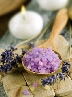 *soothing lavender bath