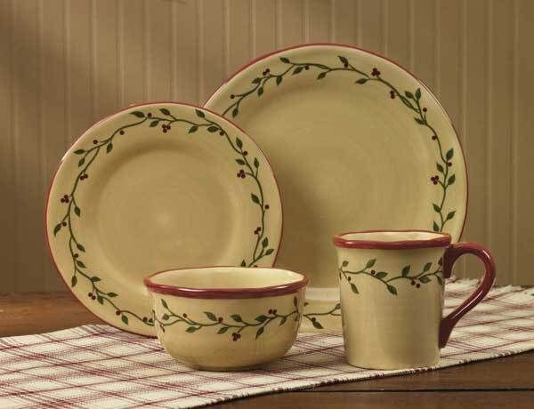 Everything Primitives - Thistleberry Dinnerware 16pc. Place Setting $229.95 (/ & 20 best Dinnerware Sets images on Pinterest | Dinnerware sets Dish ...