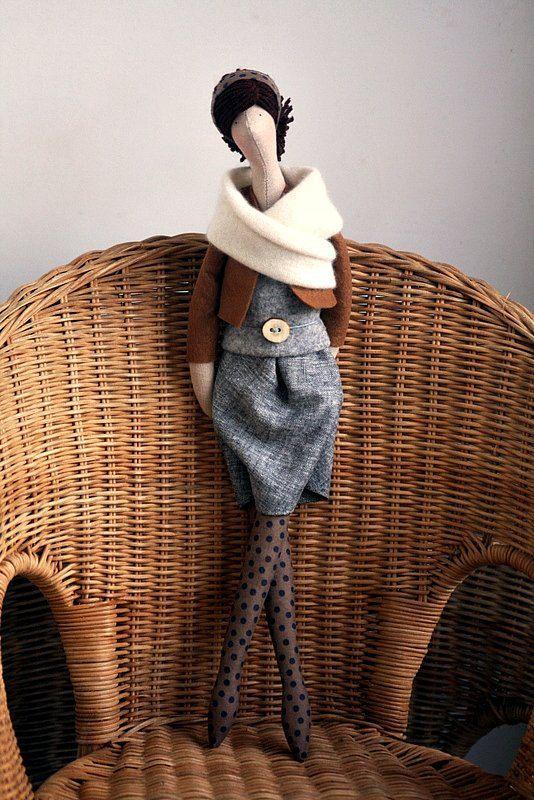 OOAK тканей Кукла польского художника (производства Agah)